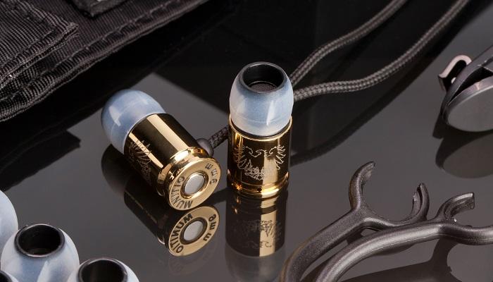 Munitio - Altın Titanyum Karışımı Mermi Şeklinde Kulak İçi Kulaklık