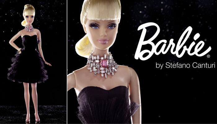 Değerli Taşlarla Süslenmiş Barbie Bebek