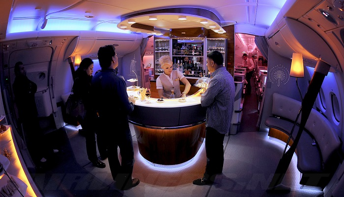 Emirates Airbus A380 Onboard Bar