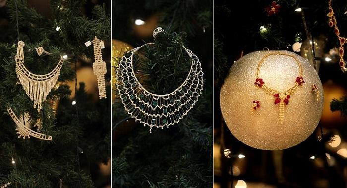 Emirates Palace Hotel'in Özel Yılbaşı Ağacı Mücevherler