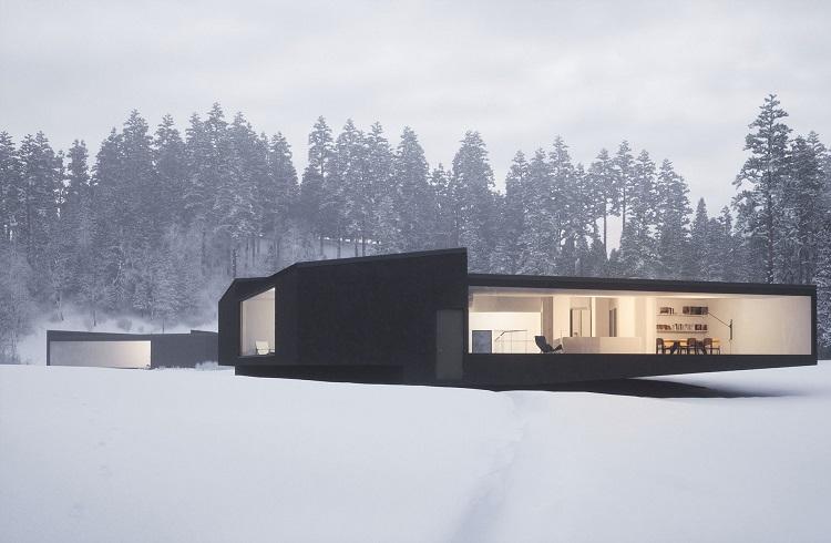 Gözlerden Uzak Tatilin Adresi Geometrik Kış Evleri