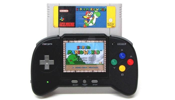 Retro İkili Taşınabilir NES - SNES Oyun Sistemi