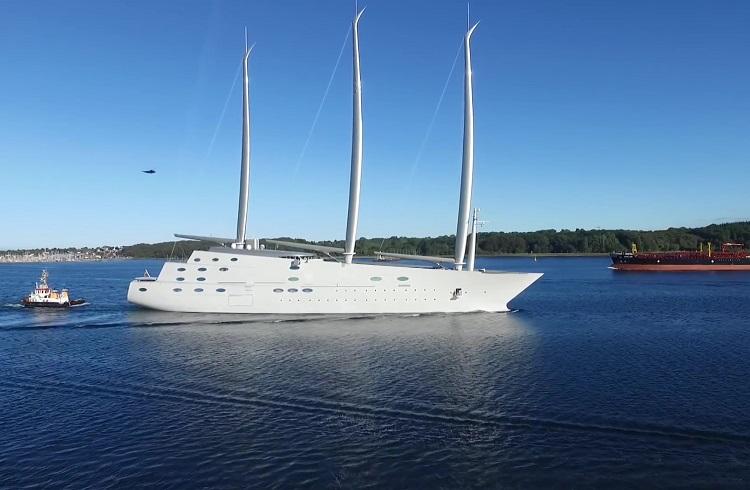"""Rus Milyarderin Yaptırdığı Yüzen Saray: """"Sailing Yacht A"""""""