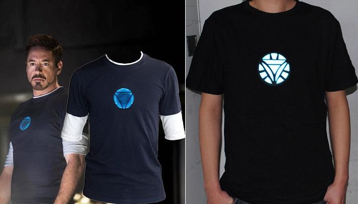 Tony Stark - LED Aydınlatmalı Iron Man Tişörtü