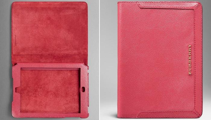 Burberry of London Embossed Check Patent Leather iPad Kılıfı