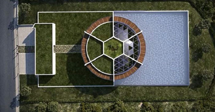 Ball-Shaped House - Barselona/Messi
