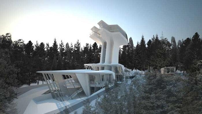 Spaceship House - Moskova/Naomi Campell