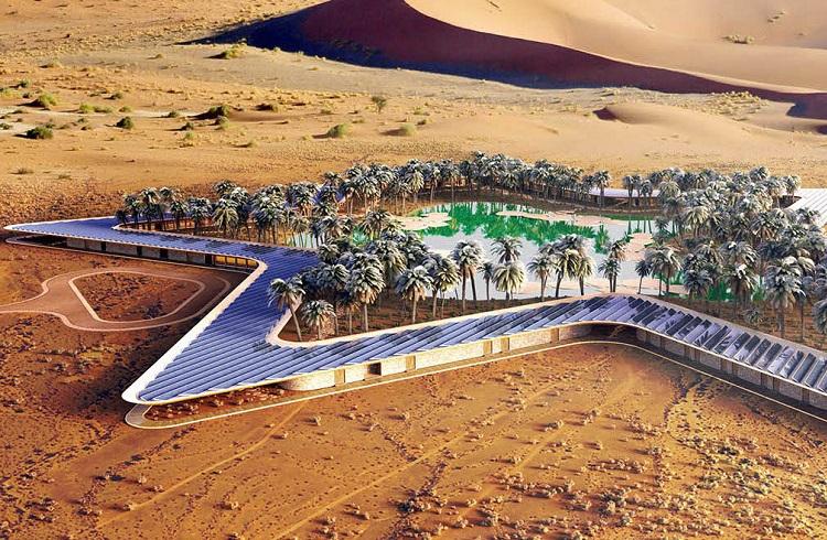 """Çölün Ortasında Güneş Enerjili Yemyeşil Bir Vaha: """"Oasis Eco Resort"""""""