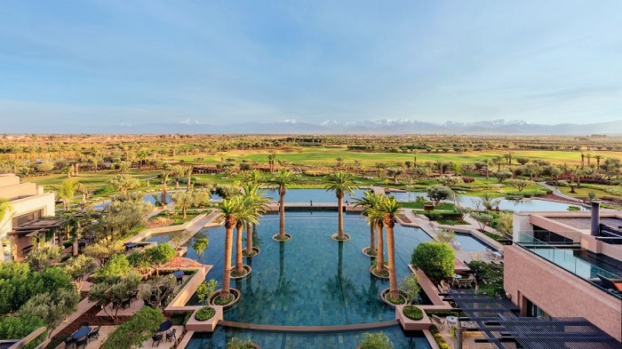 Fas'ın En Güzel Otellerinden Biri Olan Royal Palm Marrakech'in Konumu