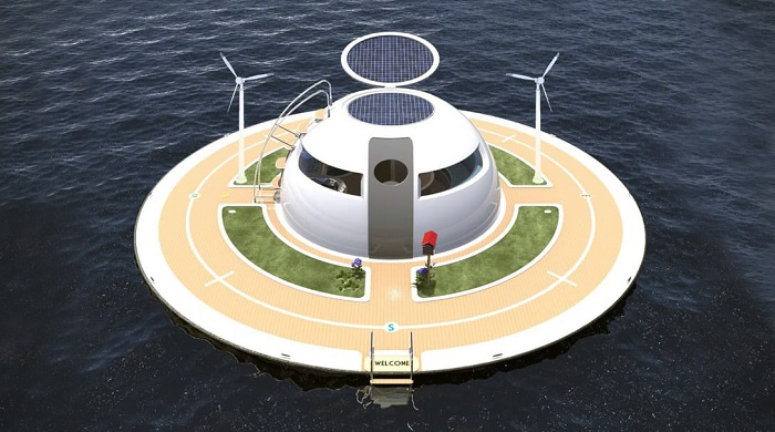 Okaynuslar Üzerinde Gezinen UFO'nun Etkileyici Tasarımı