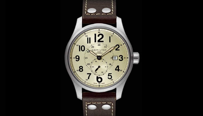 Hamilton Khaki Field Old Paper Dial Brown Leather