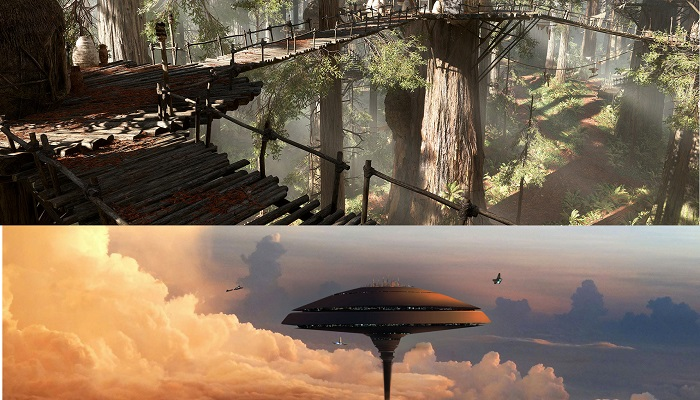 Endor Gezegeni ve Bulut Şehri - Star Wars
