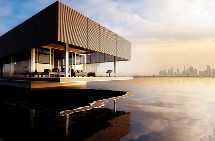 """Abu Dabi Kıyılarında Hayranlık Uyandıran Yüzen Ev: """"Waterlovt Houseboat"""""""