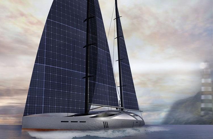 """Güneş Panelli Yelkenleriyle Çevre Dostu Bir Yat Tasarımı: """"Aquila"""""""