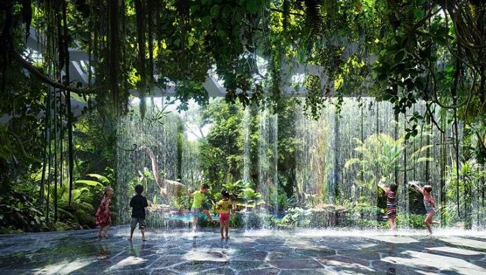 Rosemont Hotel'deki Yağmur Ormanlarının Teknolojik Tasarımı