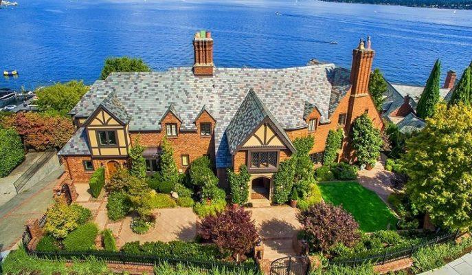 Göl Kenarında 14.8 Milyon Dolarlık Huzurlu ve Lüks Bir Seattle Evi