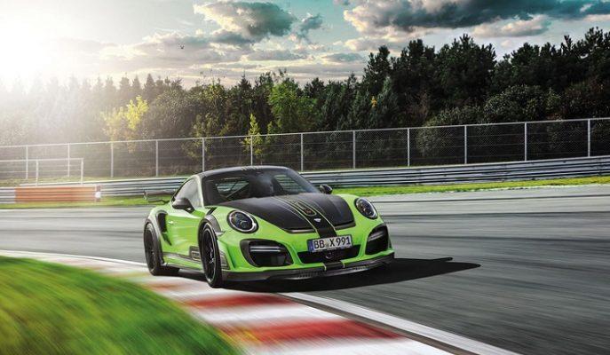 "TechArt Firmasından Yeşil Renkli Bir Canavar: ""Porsche 911 Turbo GTstreet R"""