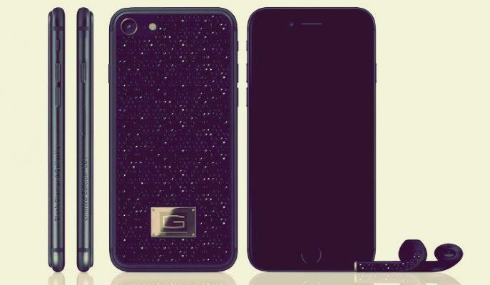 Siyah Renkli Pırlantalar ile Donatılmış En Pahalı iPhone 7 Koleksiyonu