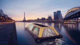 Dünyanın İlk Yüzen Spor Salonu ile Egzersiz Yaparken Paris