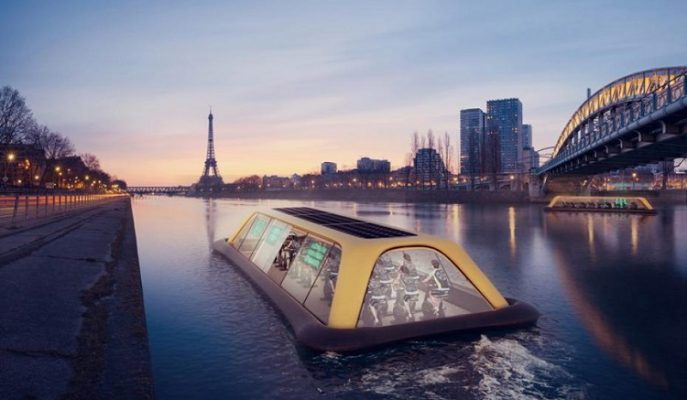 Dünyanın İlk Yüzen Spor Salonu ile Egzersiz Yaparken Paris'i Keşfedin!