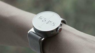 Görme Engellilerin Zamanı Yakalamasını Sağlayan İlk Akıllı Saat!