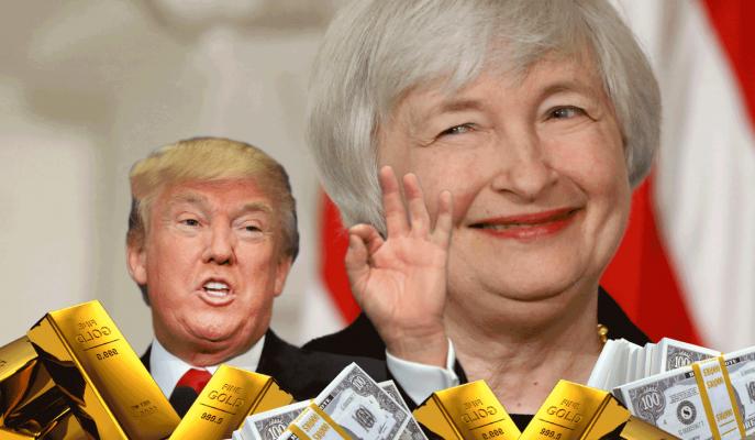 """Altın Fiyatları Trump'ın """"Yellen'i Beğeniyorum"""" Demesiyle Yükseldi"""