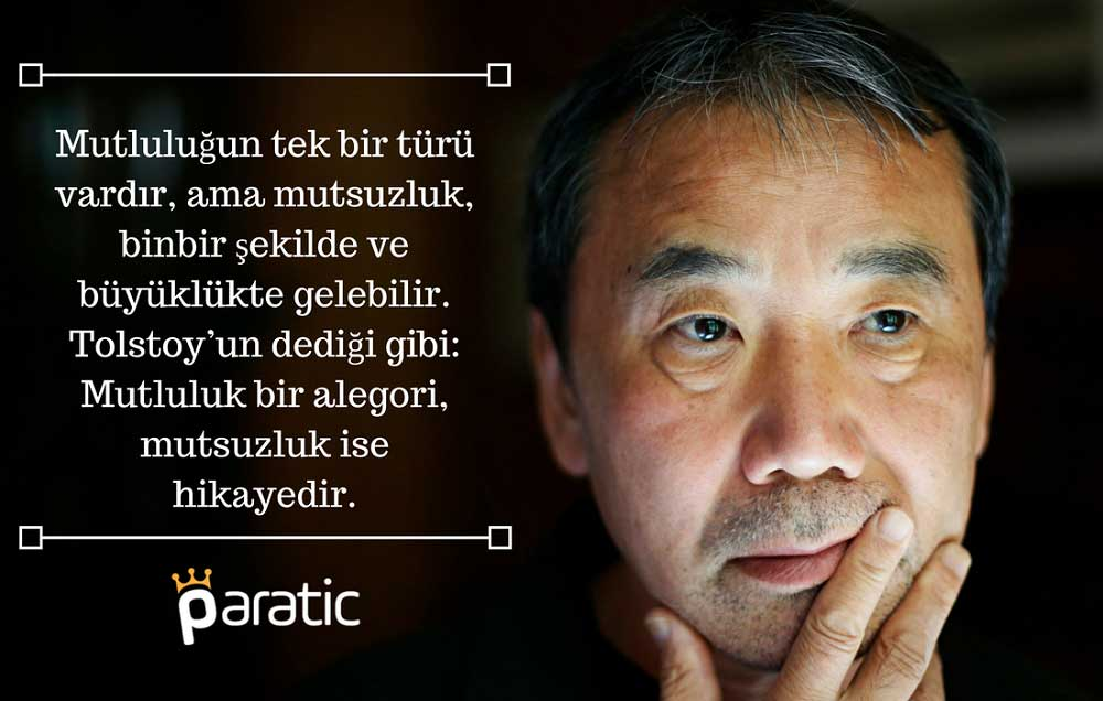 Haruki Murakami Sözleri Mutluluk ve Mutsuzluk Hakkında