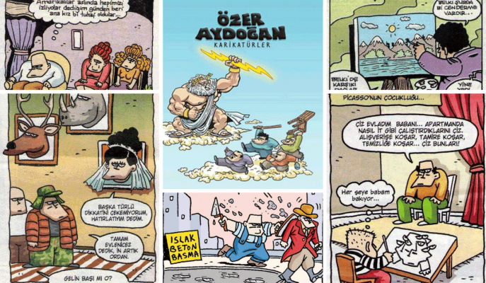 Özer Aydoğan Karikatürleri: Dolu Dizgin Komedinin Merkezinde 120 Harika Çizim