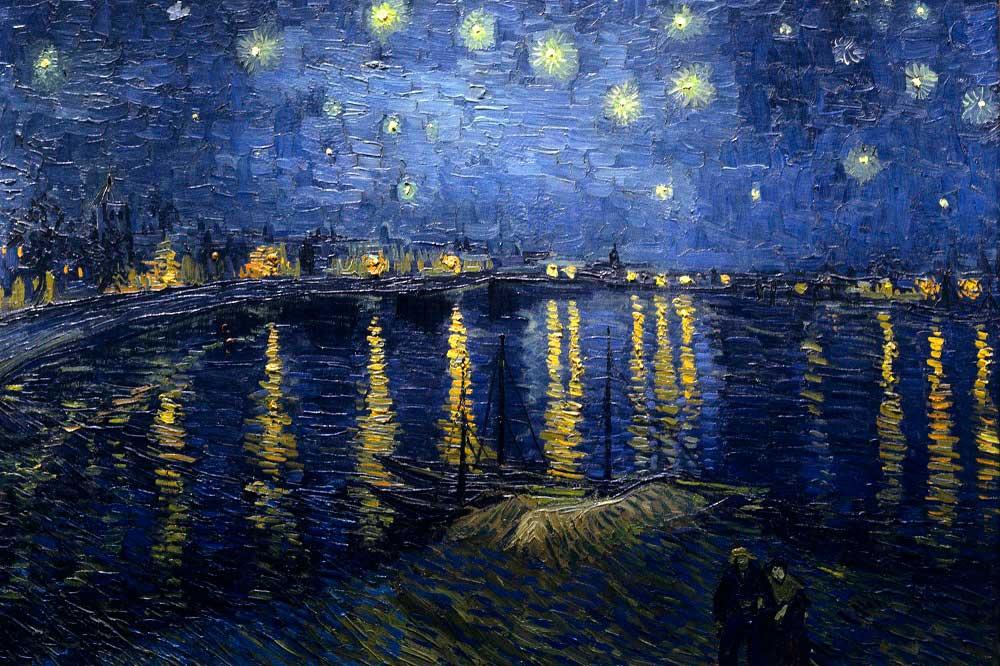 Rhone Üzerinde Yıldızlı Bir Gece İsimli Çalışması