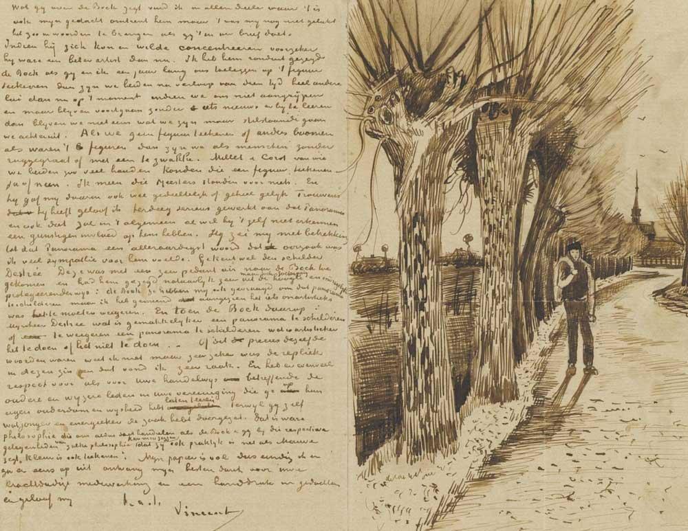 Vincent van Gogh Theo'ya Yolladığı Mektuplardan Bir Tanesi