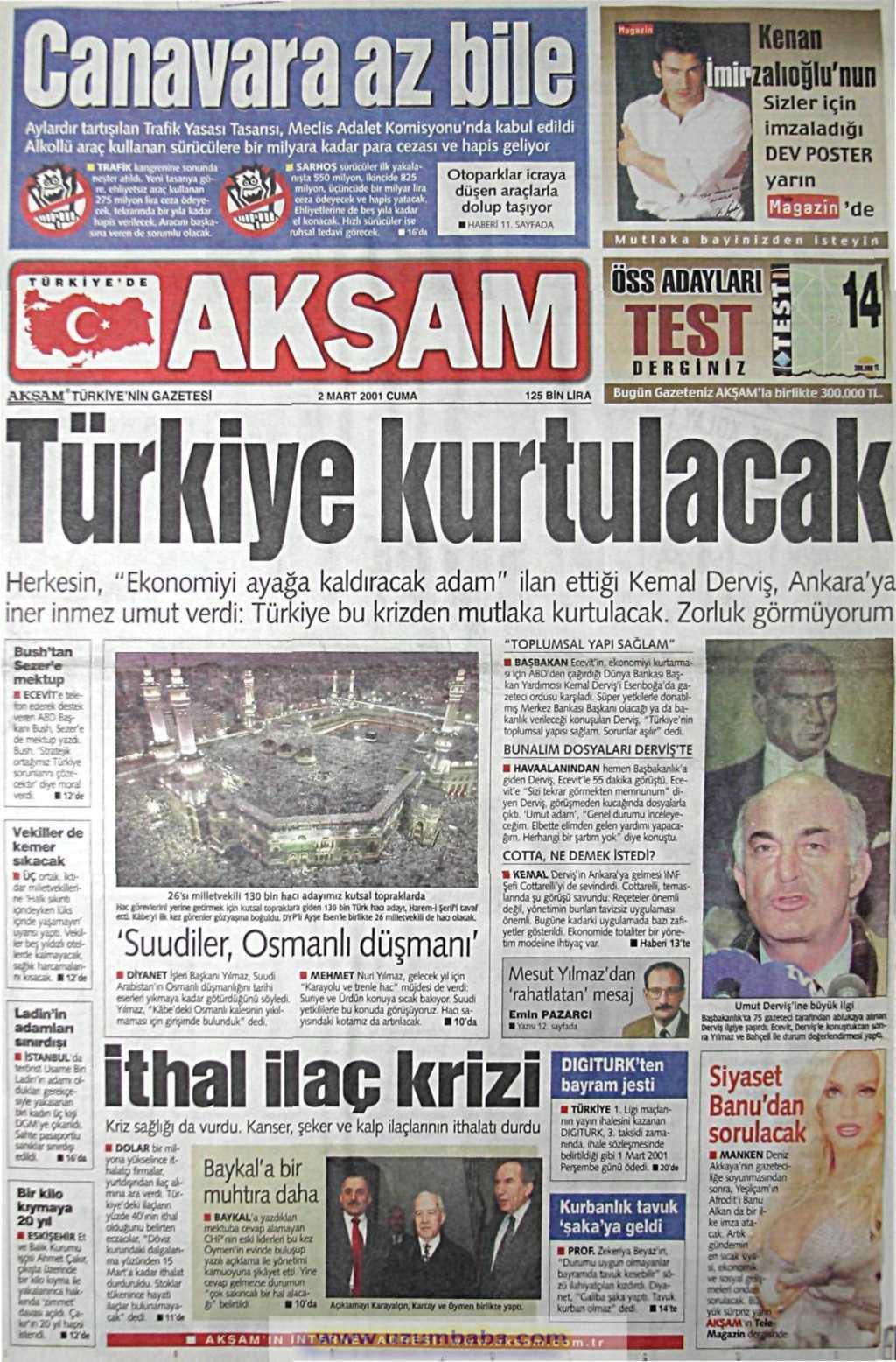 Kemal Derviş'in Türkiye'ye gelmesi