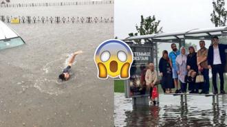 İstanbul'da Afete Dönüşen Yağmur Sonrası Oluşan Manzaraya Sosyal Medyadan Gelen Yorumlar