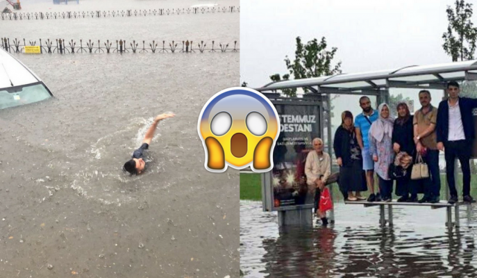 İstanbul\'da Afete Dönüşen Yağmur Sonrası Oluşan Manzaraya Sosyal Medyadan Gelen Yorumlar