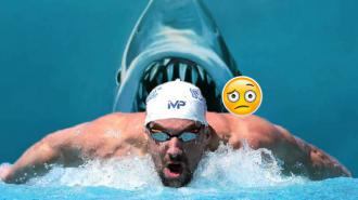Michael Phelps, Köpekbalığına Burun Farkıyla Yenildi!