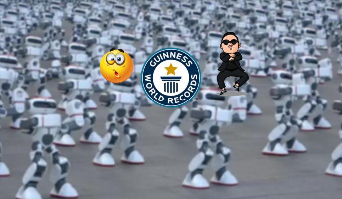 Aynı Anda Dans Ederek Guinness'e Adını Yazdıran 1.069 Rekortmen Robot!