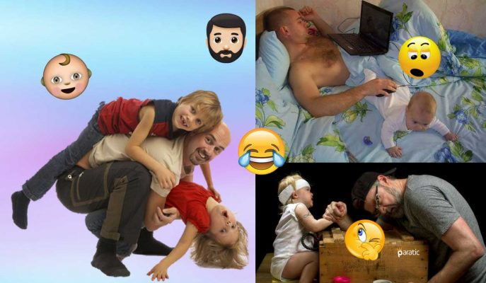 Babalara Çocuk Emanet Edildiğinde Ortaya Çıkan 80 Komik Fotoğraf