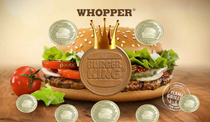 Burger King'den Yeni Kampanya: 1 Whopper Burger Alana 1 Whoppercoin Hediye