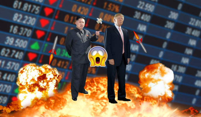 Kuzey Kore Krizi ile 1 Trilyon Dolar Buharlaştı!