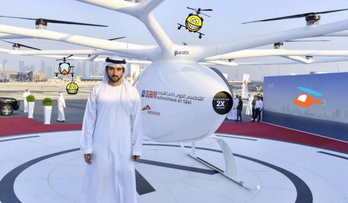 Dubai İnsansız Uçan Taksileri 2022 Yılında Gökyüzüne Çıkartıyor!