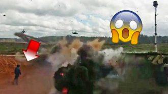 Rus Helikopterinin Yanlışlıkla Sivillere Ateş Açtığı Korku Dolu Anlar
