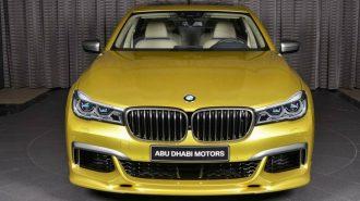 Abu Dhabi Motors'dan Yeni BMW 7 Serisine Sarı Dokunuş!