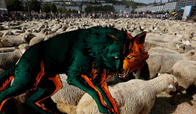 Fransa'daki Sıra Dışı Protesto: Kurtlar Vs. Koyunlar!
