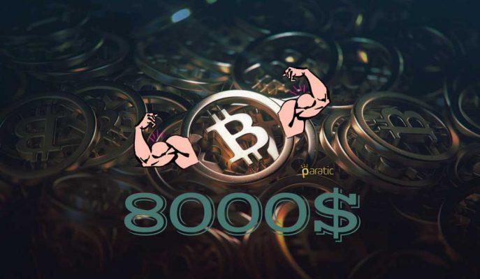 Bitcoin 8000 Doları Geçerek Yine Baş Döndürdü