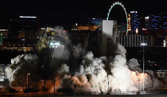 Las Vegas'ın Ünlü Kumarhanelerinin Yıkım Anına Ait Görüntüler