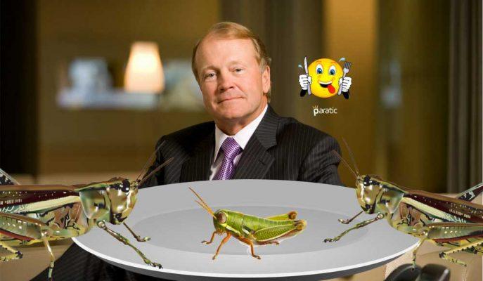 """Ünlü CEO'dan Böcek Yetiştiricilerine Müjde: """"Çok Yakında Hepimiz Çekirge Yiyeceğiz"""""""