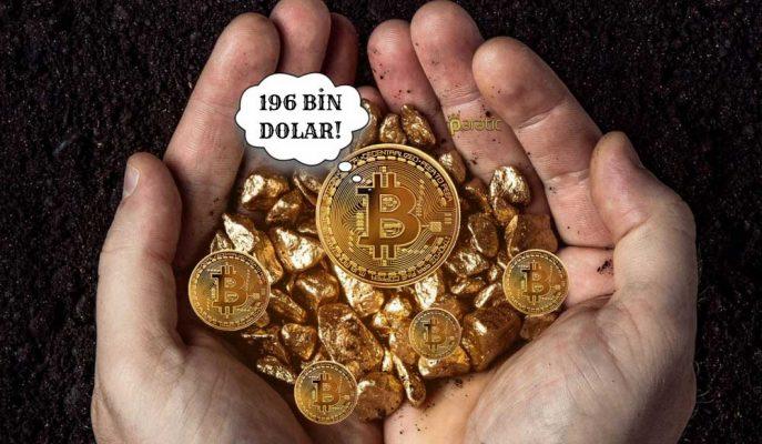 Yatırımcılar Ellerindeki Bitcoini 196 Bin Dolara Ulaşana Kadar Satmayacaklar