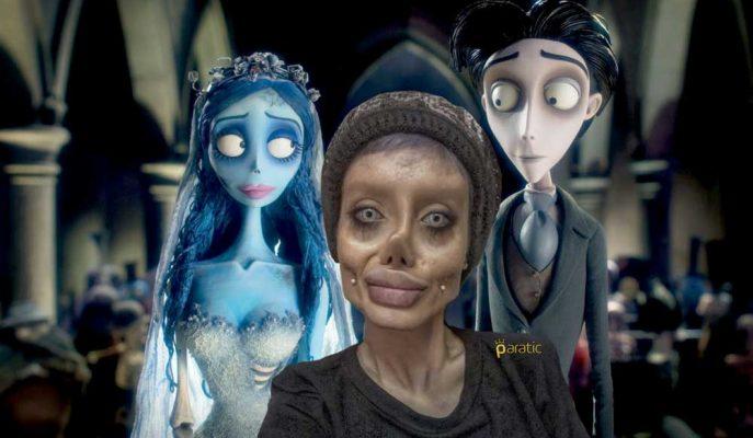 Angelina Jolie Olayım Derken Ölü Gelin'e Dönüşen Kadın Viral Oldu!