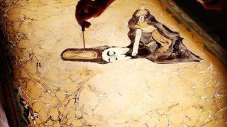 Sizleri Bambaşka Bir Aleme Götürecek Ebru Sanatı Görüntüleri