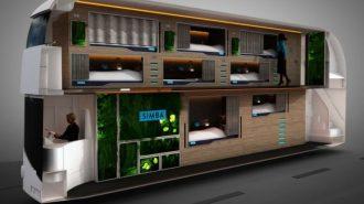 """İngiliz Simba Dünyanın En Konforlu Yataklı Otobüsü """"Snoozeliner""""i Tanıttı!"""