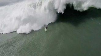Sörf Kazasının Drone Kamerasına Takıldığı İnanılmaz Anlar